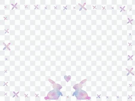かわいいウサギのナチュラルフレーム