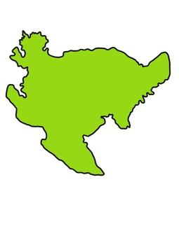 佐賀縣佐賀地圖顏色綠色