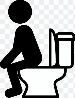 象形圖添加到廁所的人