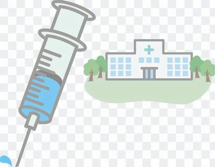 注射器和医院