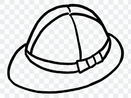 Student cap / line drawing