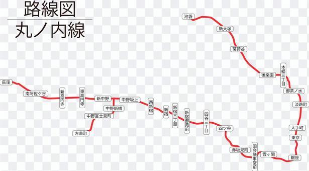 丸ノ内線路線図-リアル