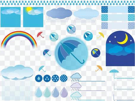 Material set for the rainy season