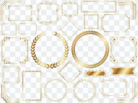 Gold frameset