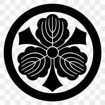 柏紋 둥근 칼 세 카시와 일본의 가문