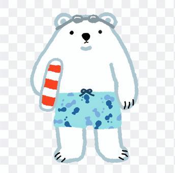 シロクマシリーズ・海水浴