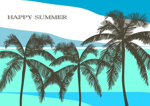 Tropical image Summer greetings