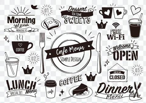 Cafe style design menu