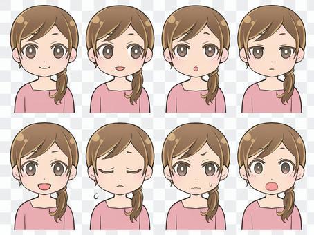 女性表情3