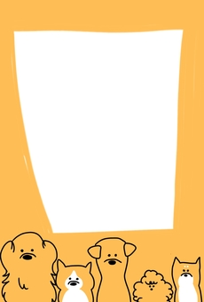 Yellow dog frame
