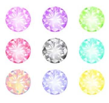 多彩的鑽石