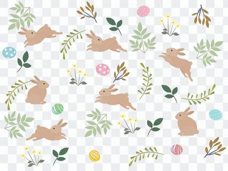 復活節兔子和雞蛋