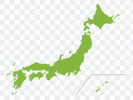 日本地图(一个连接)