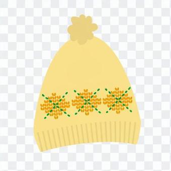 針織帽(黃色)