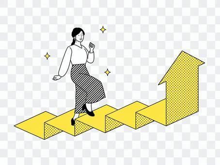 ステップアップ女性