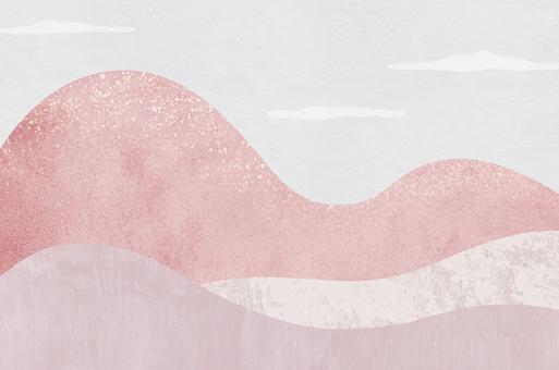 具有抽像風景圖案的日本紙紋理_日式背景