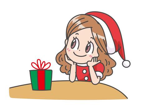 期待聖誕節的女孩