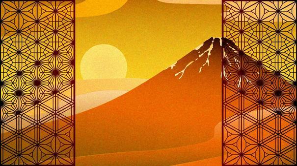 向日葵和波諾金葉風紅富士