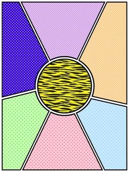 美式漫畫風格~彩色漫畫相框分體~