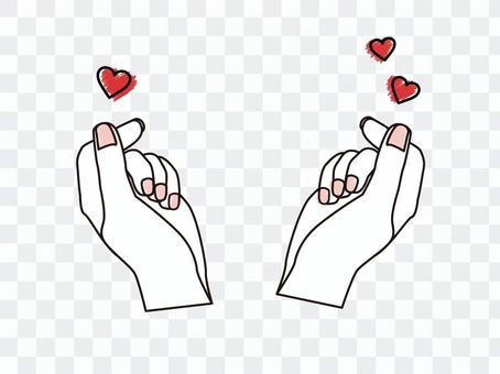 手指心兩手