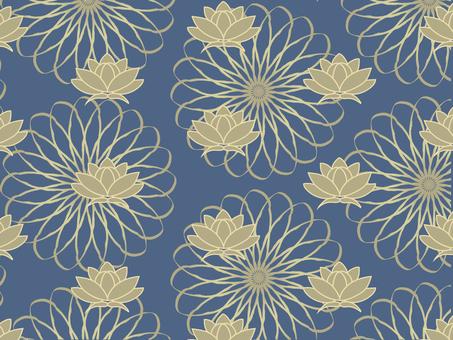 Floral gold lotus flower pattern