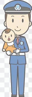 Security guard - hug - whole body