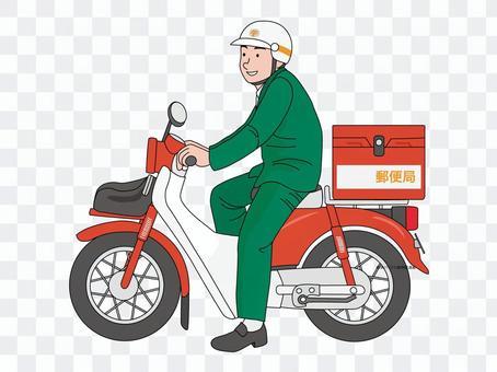 郵差騎自行車的人