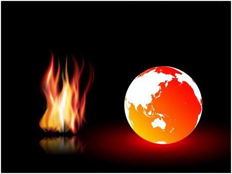 地球和火焰