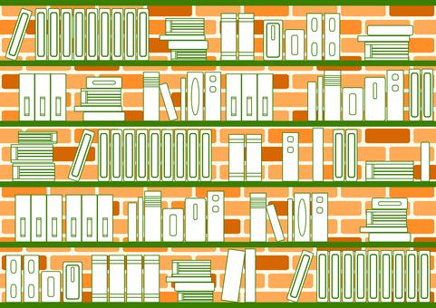 書架磚背景