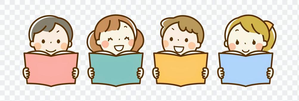 孩子們看書