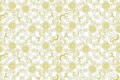 중국 문양 - 꽃 배경 패턴 1 · 금
