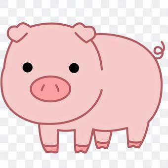 "Illustration of an animal ""pig"""