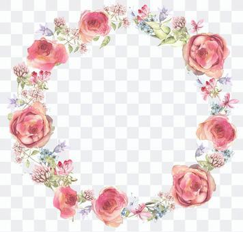Lease 1 - subtle color rose garland
