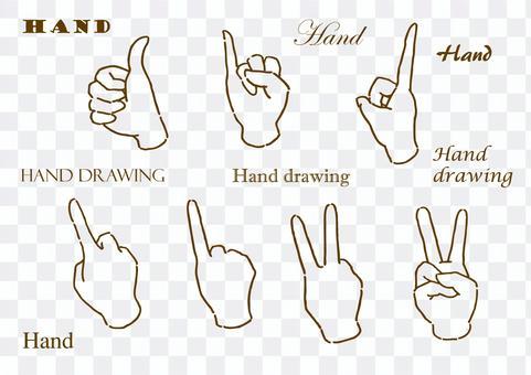 Hand-drawn freehand