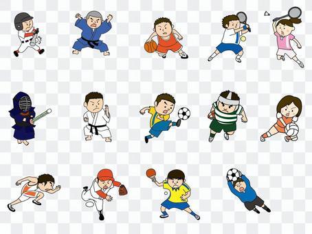 體育人物插圖集02
