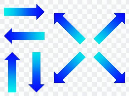 Gradient arrow set