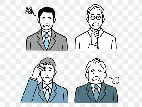 上班族各種模式 老年男性煩惱