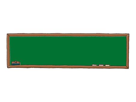 水平的黑板