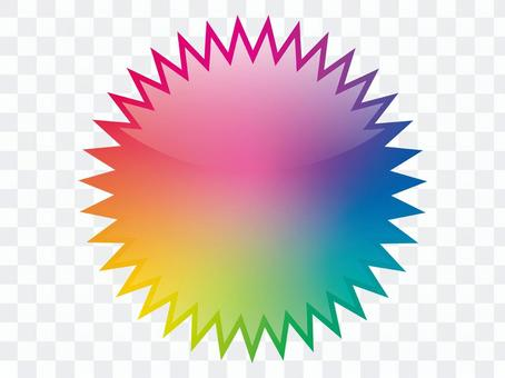 虹色のバクダンフレーム