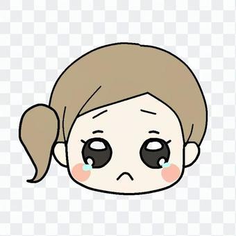 哭泣的臉(女孩)