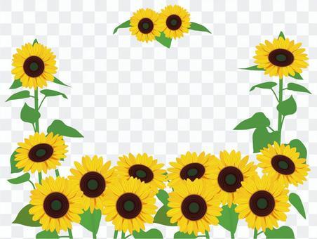 ひまわりの花フレーム