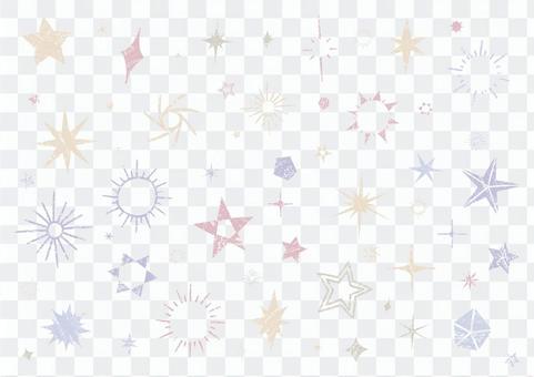 Glittering handwritten variation of stars 2