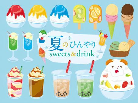 Summer cool sweets & drinks