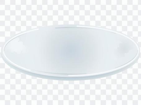 透明で涼しげなガラスの器