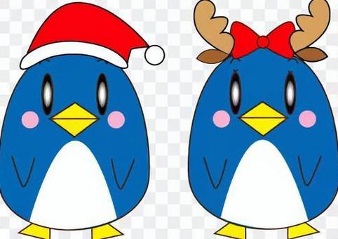 聖誕老人馴鹿頭飾企鵝