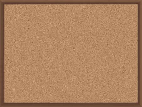 ai 棕色板條箱軟木板 4:3