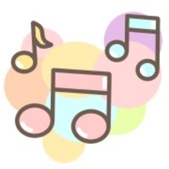 音符音樂彩虹可愛蠟筆
