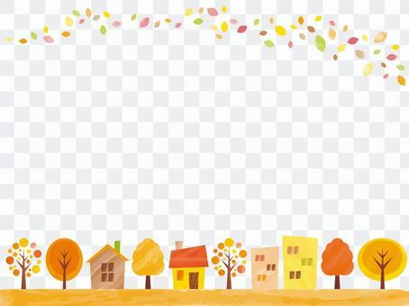 秋天鎮背景第1部分的背景