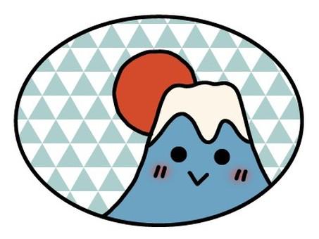 New Year's card material Mt. Fuji