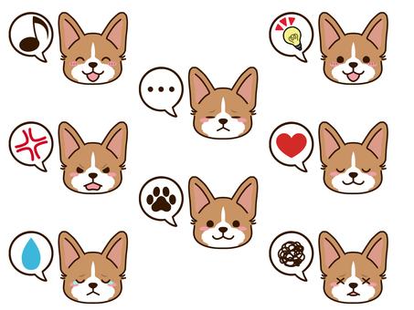 柯基犬(紅白)臉圖標